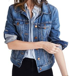 Madewell Classic Denim Jacket Button Down Size M